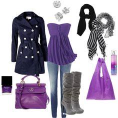 Purple, created by #gfelstet on #polyvore. #fashion #style Michael Antonio #BAGGU