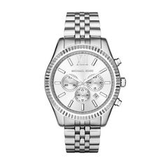 Michael Kors Men's Lexington Silver-Tone Watch MK8405 – Watches for Boys