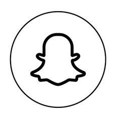 Snapchat Logo, Vector Logo, Logo Outline, Black And White Instagram, App Icon, App Logo, App Pictures, Instagram Logo, Snapchat Icon