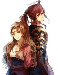 Fire Emblem Fates - Hana and Subaki << Subaki is such a beautiful man... Just about as pretty as Kaze
