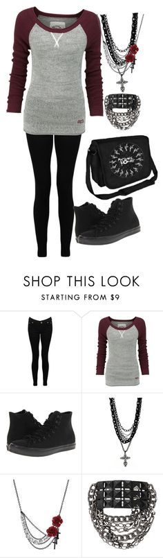 """Untitled #121"" by nancyricothemusiclover ❤ liked on Polyvore featuring Superdry, Converse and Amrita Singh"