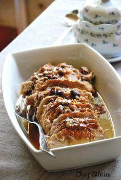 CHEZ SILVIA: Lomo de cerdo frío con cebolla y pasas de corinto {olla rápida}