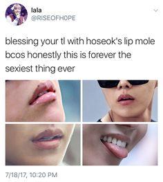 J hope mole on his lip fillers kiss natural shape women lipstick Kookie Bts, Jimin, Bts Bangtan Boy, Jhope, Taehyung, Jung Hoseok, Bts Memes, Lee Min Ho, Bts Tweet