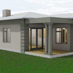 Cool House Plans Design In South Africa 2 Bedroom House Design, Four Bedroom House Plans, Small House Design, 2bhk House Plan, Model House Plan, Best House Plans, Modern Bungalow House, Modern House Facades, House Plans South Africa