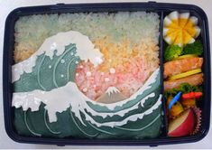 Pretty Waves... plus more amazing bentos that must have taken forever to make