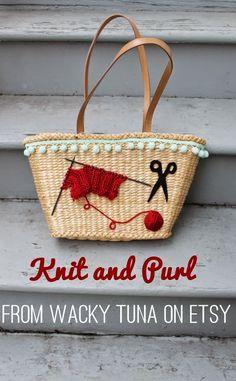 knitting purses by Wacky Tuna on etsy via Va-Voom Vintage
