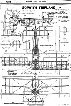 Fokker Dr1, Rc Plane Plans, Airplane Drawing, Plane Design, Vintage Airplanes, Paper Plane, Aircraft Design, Technical Drawing, Model Airplanes