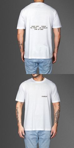 FAMOUS AT THE FORUM T-SHIRT KANYE WEST Cotton casual T-shirt men size Euro short sleeved O neck T-shirt wholesale