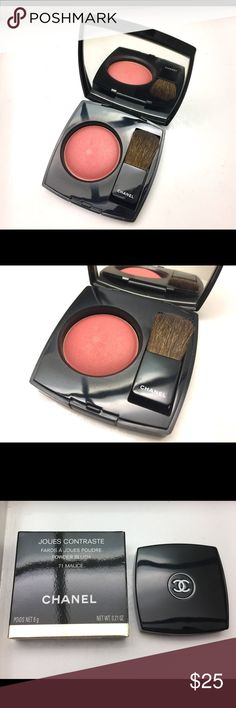 Chanel Malice Joues Contraste Blush Very light usage. Comes with velvet pouch & box. CHANEL Makeup Blush
