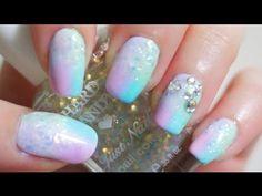 elleandish - my favorite new nail art youtuber  Glitter Pastel Gradient Nail Tutorial