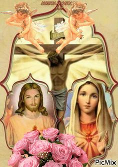 See the PicMix jesus belonging to hasenfuss on PicMix. Mary Jesus Mother, Mary And Jesus, Archangel Prayers, Love You Gif, Jesus Wallpaper, Pictures Of Jesus Christ, Beautiful Gif, God Prayer, Blessed Virgin Mary