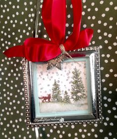 Another shaker ornament/tag by Billie: Happy Scenes, Jingle All the Way, Square framelits, & more - all from Stampin' Up! except the ornament.