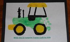 Footprint Tractor Craft #Harvest #Kidscrafts