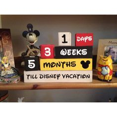 My Disney vacation countdown! We go every year so I needed to have weeks and months in there too! It was an easy, fun project and came out beautiful!