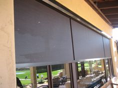 Offering custom roller shades in Phoenix metro area which provide wonderful benefits of stationary sunscreens, but with the flexibility of being able to roll them up and down as needed. Patio Blinds, Roller Shades, Phoenix, Sun, Exterior, Home Decor, Courtyards, Decoration Home, Room Decor