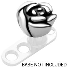 Surgical Steel Flower Rose Dermal Anchor Top.. ANDD THIS