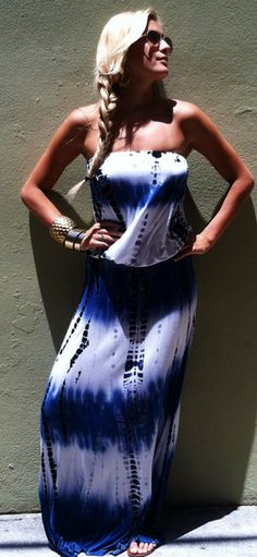 Blueberry Blaze Maxi Dress