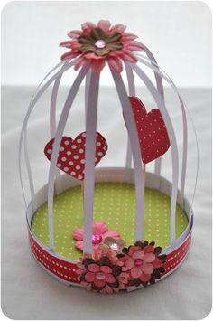 DIY fête des grand-mères - Une cage à coeurs