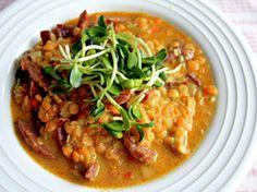 Chorizo, Chana Masala, Curry, Broccoli, Healthy, Ethnic Recipes, Food, Lisa, Green