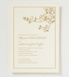 Anna Beth Wedding Invitation - Garden Wedding Invitation