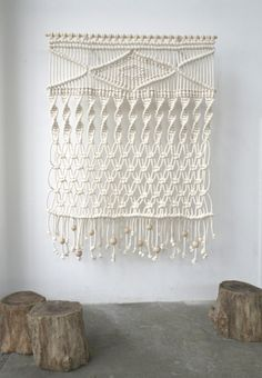 macrame wall hanging would look so good on our soon to be white walls!