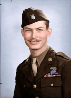 Desmond Doss the first conscientious objector to receive a Medal of Honor for his actions at Hacksaw Ridge in 1945 [x-post from r/colorizedhistory]