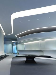 Interior design of the Galaxy SOHO Complex in Beijing designed by Zaha Hadid