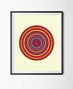 Abstract Color Downloadable Printable Poster,Geometric Art, Wall Decor Modern Print, Concentric Circles, Digital Download  Graphic Design by STRNART on Etsy