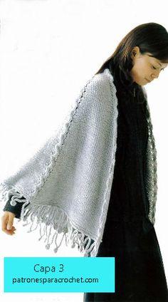 capa tejida con dos agujas
