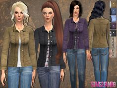 The Sims Resource: Casual jacket by Sims2fanbg • Sims 4 Downloads