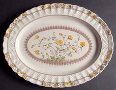"""Spode BUTTERCUP 15"""" Oval Serving Platter 676043 #Spode"""