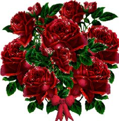 bunch of red roses bouquet de roses rouges Image, animated GIF Flowers Gif, Flowers For You, Beautiful Roses, Beautiful Day, Bunch Of Red Roses, Valentines Gif, Red Rose Bouquet, Glitter Pictures, Rose Pictures