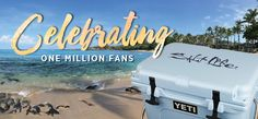 Join us in our celebration as we approach one million Facebook fans! We will be giving away a Yeti Roadie Cooler filled with $150 of Salt Life gear!! Total value is $450.