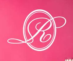 22 Inch Letter R Monogram Wall Decals 15 by PolkaDotWallStickers, $19.98