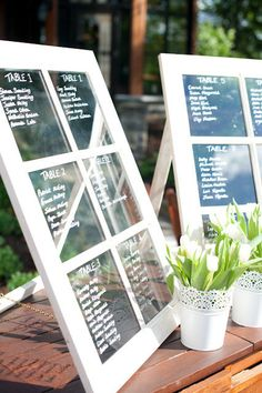Cute Table Assignments