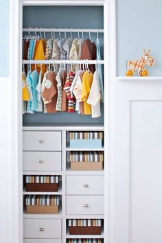 maximize baby closet space with organizers