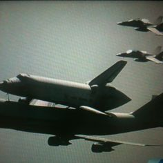 Endeavour with escorts!