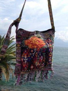 Samara Purse (Guatemala) - Handmade by repurposing traditional Mayan womens skirts and shirts.