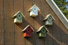 Summer Charms Bird Houses, Set of 5