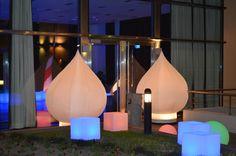 Ambientando el ingreso a las Torres de Le Park con Lotus Inflables Luminosos cubos luminicos y esferas... en el Sum se armo la Fiesta!!