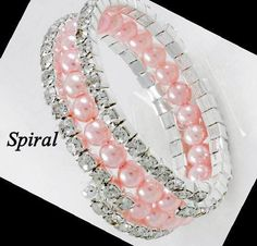 Pink is Pretty Crystal and Pearl Wrap Bracelet $9.00 #BrushStrokesGallery