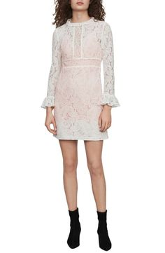 New maje Rilene Paisley Long Sleeve Guipure Lace Mini Dress online shopping - Bestvsbest Long Sleeve Romper, Maxi Dress With Sleeves, Maje Clothing, Striped Two Piece, Nordstrom Dresses, Plus Size Dresses, Paisley, Cold Shoulder Dress, Clothes For Women