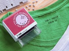 Custom Clothing Stamp by Mine Stamp - This is great as you can create the custom layout you want.  Changing names, adding extra info, etc.