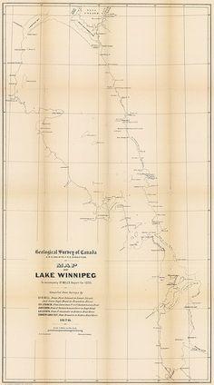 Map of Lake Winnipeg, Manitoba 1878
