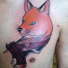 #fox #gentleman #tattoo