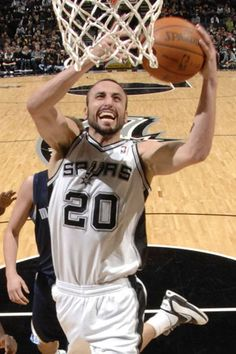 Manu Ginobili, #20, Guard and motivational leader of our San Antonio Spurs