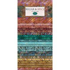 Wilmington Batiks 40 Karat Jewels Fabric Strips Sugar and Spice Jelly Rolls, Fat Quarter Shop, Fabric Strips, Quilting Fabric, Sugar And Spice, Quilts, Shopping, Quilt Sets, Quilt