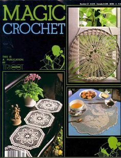 Magic Crochet Nº 27 - Rosio Llamas - Album Web Picasa Crochet Patterns Filet, Crochet Diagram, Doily Patterns, Crochet Chart, Filet Crochet, Crochet Motif, Irish Crochet, Crochet Doilies, Knit Crochet