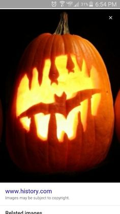 Bat and stalagmites Jack-O'-Lantern