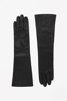 Merino and leather gloves